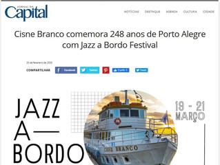 Cisne Branco comemora 248 anos de Porto Alegre com Jazz a Bordo Festival