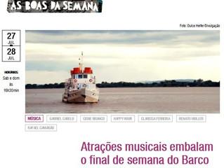 Atrações musicais embalam o final de semana do Barco Cisne Branco