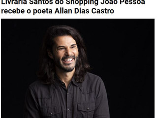 Livraria Santos do Shopping João Pessoa recebe o poeta Allan Dias Castro