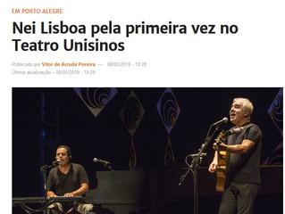 Nei Lisboa pela primeira vez no Teatro Unisinos