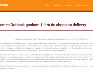 Clientes Outback ganham 1 litro de chopp no delivery