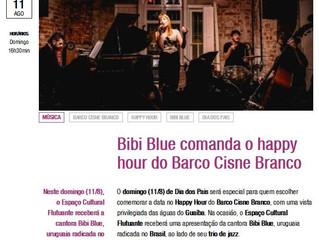 Bibi Blue comanda o happy hour do Barco Cisne Branco