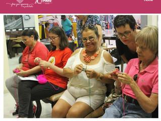 Primeira edição da Oficina Fios que Aquecem em quadradinhos no Shopping João Pessoa