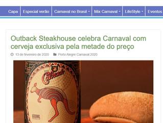 Outback Steakhouse celebra Carnaval com cerveja exclusiva pela metade do preço