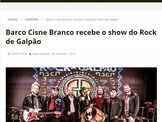 Barco Cisne Branco recebe o show do Rock de Galpão