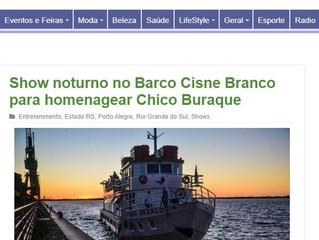 Show noturno no Barco Cisne Branco para homenagear Chico Buraque