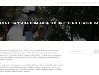 Poesia falada e cantada com Augusto Britto no Teatro Carlos Urbim