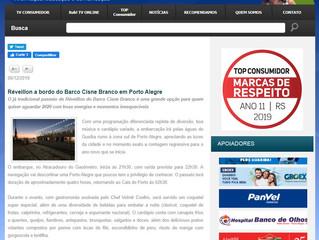 Réveillon a bordo do Barco Cisne Branco em Porto Alegre