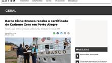 Barco Cisne Branco recebe o certificado de Carbono Zero em Porto Alegre