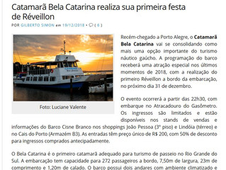 Catamarã Bela Catarina realiza sua primeira festa de Réveillon