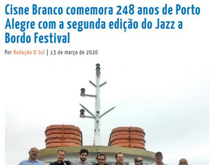 Cisne Branco comemora 248 anos de Porto Alegre com a segunda edição do Jazz a Bordo Festival
