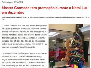 Master Gramado tem promoção durante o Natal Luz em dezembro