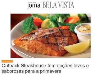 Outback Steakhouse tem opções leves e saborosas para a primavera - Jornal Bela Vista