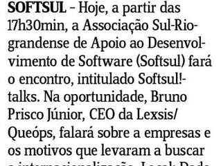 Softsul!talks no Jornal do Comércio