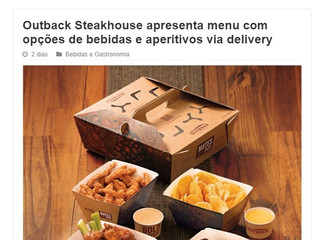 Outback Steakhouse apresenta menu com opções de bebidas e aperitivos via delivery