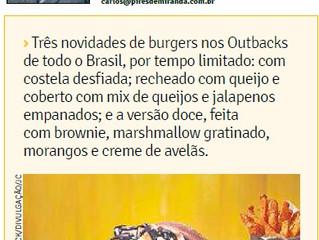 Três novidades de burguers nos Outbacks de todo o Brasil