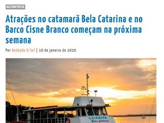 Atrações no catamarã Bela Catarina e no Barco Cisne Branco começam na próxima semana
