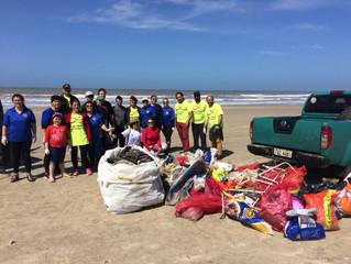 Ação realizada pelo Caminho dos Faróis coleta mais de 2 toneladas de resíduos em Santa Vitória do Pa