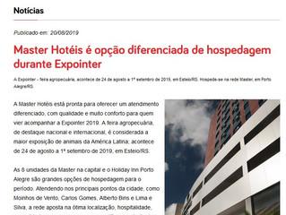 Master Hotéis é opção diferenciada de hospedagem durante Expointer
