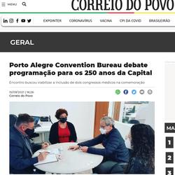 Porto Alegre Convention Bureau debate programação para os 250 anos da Capital