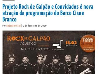 Projeto Rock de Galpão e Convidados é nova atração da programação do Barco Cisne Branco