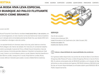 Banda Roda Viva leva especial Chico Buarque ao palco flutuante do Barco Cisne Branco