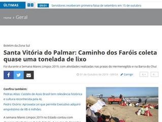 Santa Vitória do Palmar: Caminho dos Faróis coleta quase uma tonelada de lixo