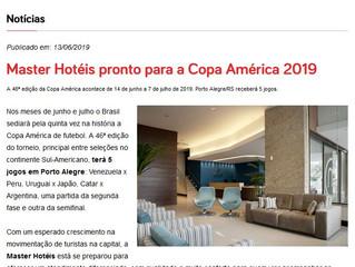 Master Hotéis pronta para a Copa América 2019