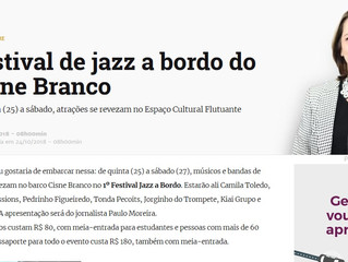 Festival de jazz a bordo do Cisne Branco