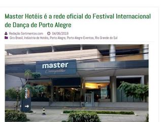 Master Hotéis é a rede oficial do Festival Internacional de Dança de Porto Alegre
