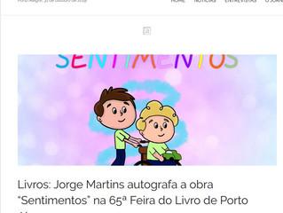 """Livros: Jorge Martins autografa a obra """"Sentimentos"""" na 65ª Feira do Livro de Porto Alegre"""