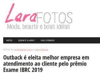 Outback é eleita melhor empresa em atendimento ao cliente pelo prêmio Exame IBRC 2019