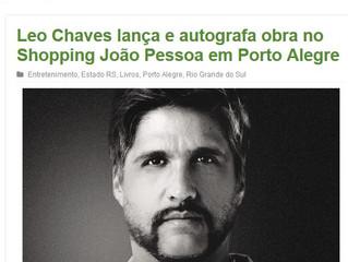 Leo Chaves lança e autografa obra no Shopping João Pessoa em Porto Alegre