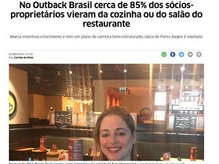 No Outback Brasil cerca de 85% dos sócios-proprietários vieram da cozinha ou do salão do restaurante