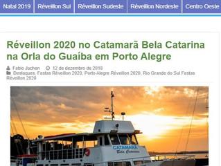 Réveillon 2020 no Catamarã Bela Catarina na Orla do Guaíba em Porto Alegre