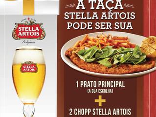 Apaixonado por chope? Restaurante Abbraccio e Stella Artois presenteiam clientes com taça exclusiva