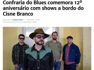Confraria do Blues comemora 12º aniversário com shows a bordo do Cisne Branco