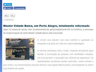 Master Cidade Baixa, em Porto Alegre, totalmente reformado