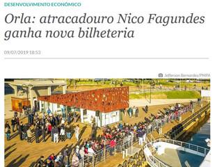 Orla: atracadouro Nico Fagundes ganha nova bilheteria