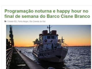 Programação noturna e happy hour no final de semana do Barco Cisne Branco