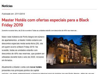 Master Hotéis com ofertas especiais para a Black Friday 2019