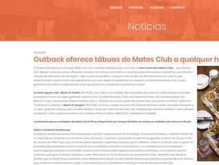 Outback oferece tábuas de Mates Club a qualquer hora do dia