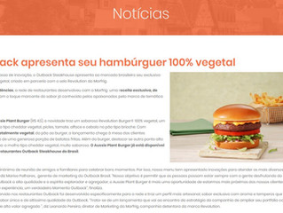 Outback apresenta seu hambúrguer 100% vegetal