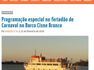 Programação especial no feriadão de Carnaval no Barco Cisne Branco