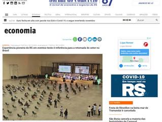 Experiência pioneira do RS em eventos-teste é referência para a retomada do setor no Brasil
