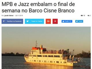 MPB e Jazz embalam o final de semana no Barco Cisne Branco