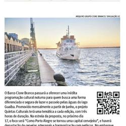 Barco Cisne Branco no Jornal do Comércio