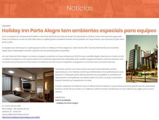 Holiday Inn Porto Alegre tem ambientes especiais para equipes