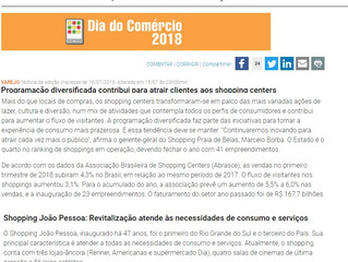 Shopping João Pessoa: Revitalização atende às necessidades de consumo e serviços
