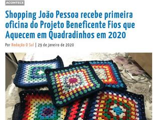 Shopping João Pessoa recebe primeira oficina do Projeto Beneficente Fios que Aquecem em Quadradinhos